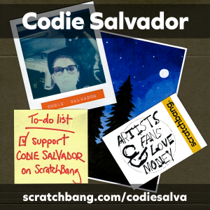 collage of Codie Salvador ephemera