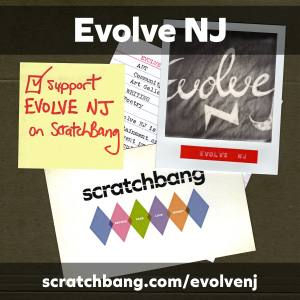 collage of Evolve NJ ephemera
