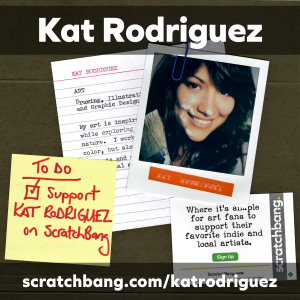 collage of Kat Rodriguez ephemera